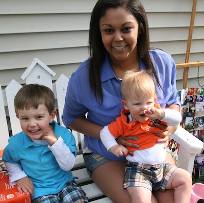 Ayanna with Jack and Owen
