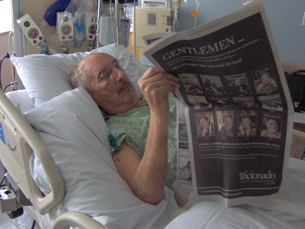 Al reading in the hospital