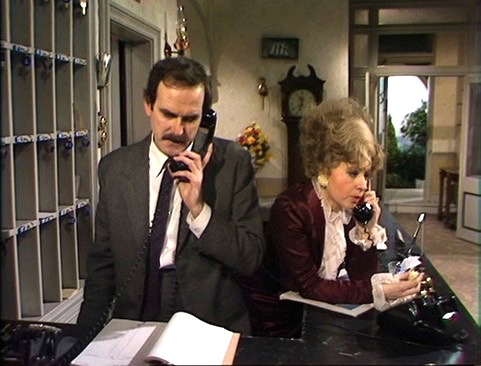 This is Cleese in Fawlty Towers in the 1970s.