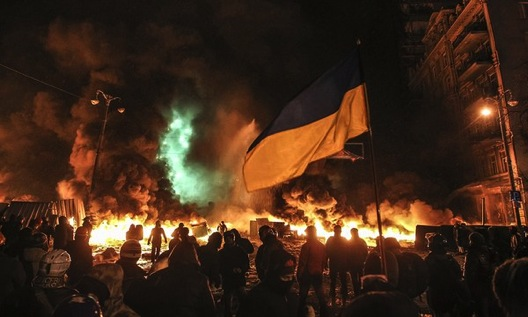 The Ukraine's protesting a Hitler-esque attempted control of the country from Russia.