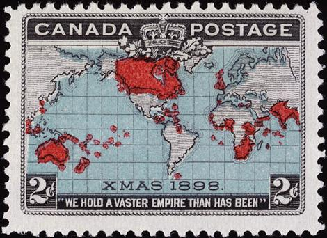 Canadian postage stamp from 1898