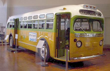 The bus that Rosa Parks was riding