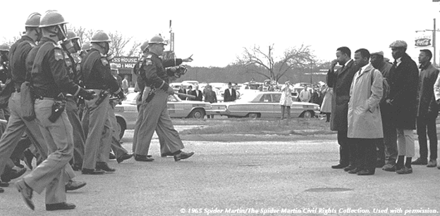 Moments before Sunday turned bloody in Selma.