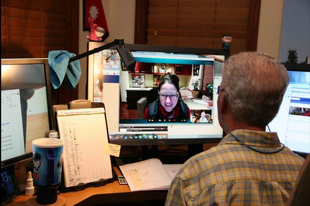 Al chatting with China on Skype