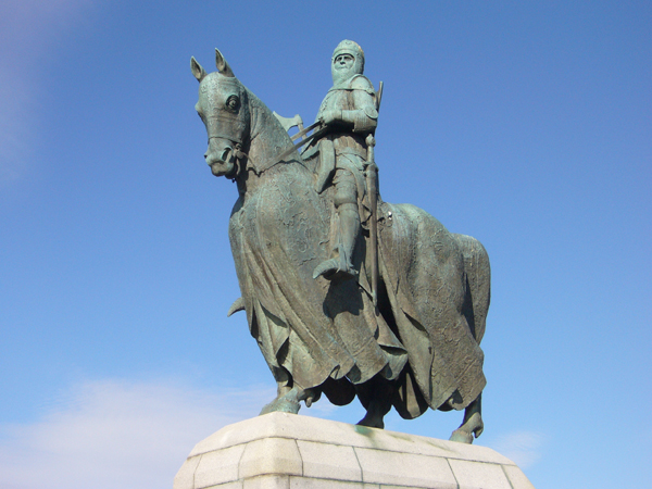 Description: Robert the Bruce on horseback