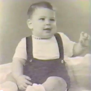 This is Steve Jobs around one year of age