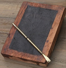 The old wooden slate