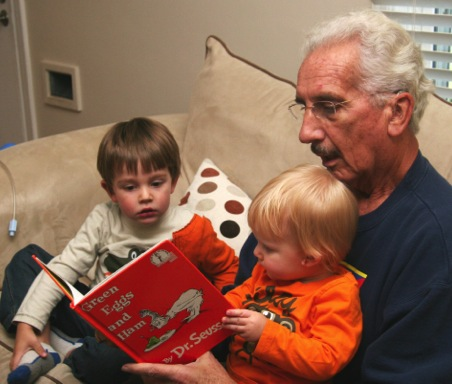 Al reading to the boys