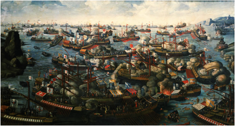 Description: https://upload.wikimedia.org/wikipedia/commons/e/e0/Battle_of_Lepanto_1571.jpg