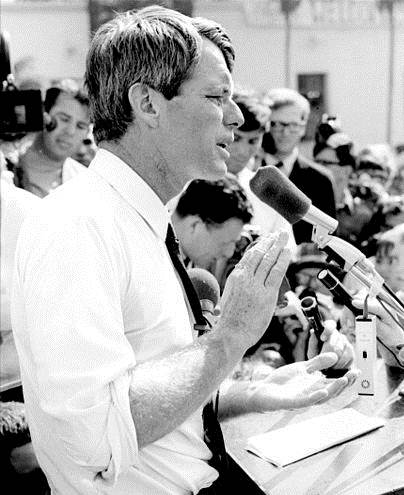 Bobby Kennedy explaining dreaming against all odds.