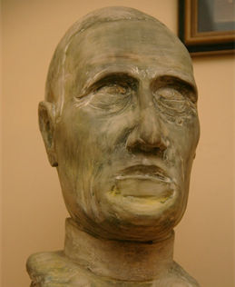 This is my sculpture of Pierre Teilhard de Chardin