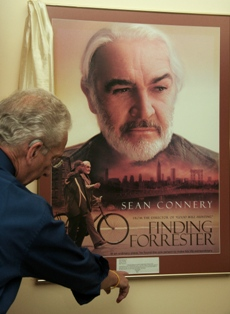 Al pointing at the Finding Forrester poster